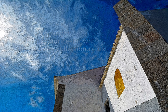 PART OF HOUSE AND SKY ALGARVE PORTUGAL