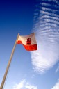 GIBRALTAR FLAG SKY AND CLOUDS