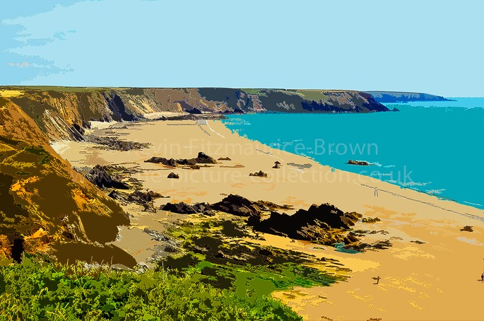 MARLOES SANDS, PEMBROKESHIRE, WALES.